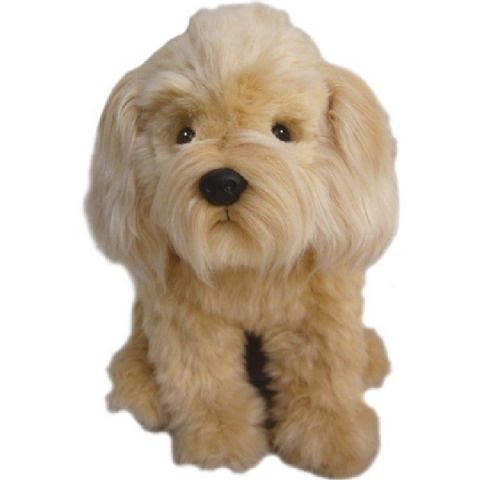 "Labradoodle Cuddly toy 12"" cream collectable  Christmas stocking filler"